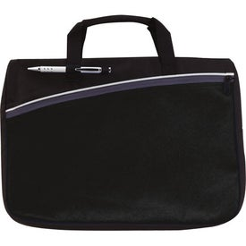 Color Accent Document Bag Imprinted with Your Logo
