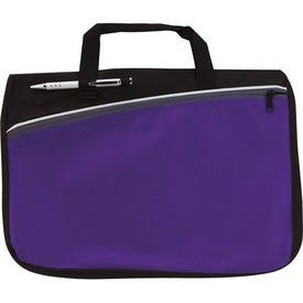 Logo Color Accent Document Bag