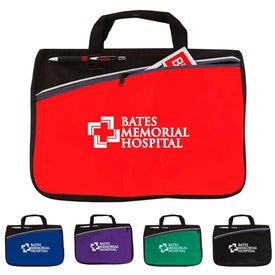 Color Accent Document Bag with Your Slogan