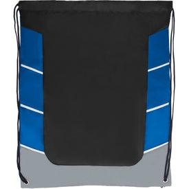 Printed Color Block Drawstring Backpack