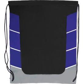 Color Block Drawstring Backpack for Marketing