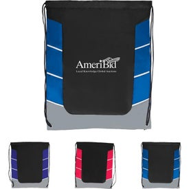 Color Block Drawstring Backpack for Promotion