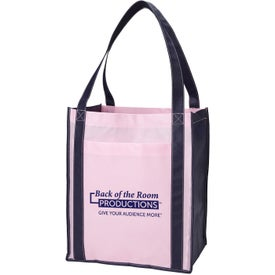 Color Combination Large Non Woven Grocery Tote Bag