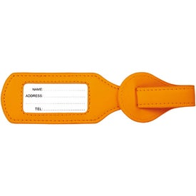 Promotional Colorplay Leather Wraparound Luggage Tag