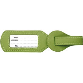 Imprinted Colorplay Leather Wraparound Luggage Tag