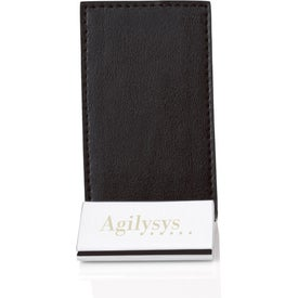 Monogrammed Colorplay Leather Business Card Holder