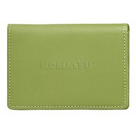Printed Colorplay Leather Slim Card Case