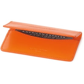 Colorplay Leather Slim Card Case for Advertising