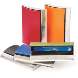 Magnetic Closure Colorplay Leather Card Case
