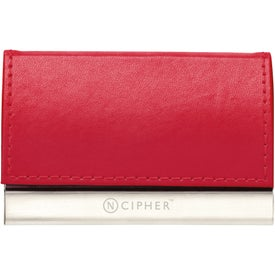 Magnetic Closure Colorplay Leather Card Case for Customization