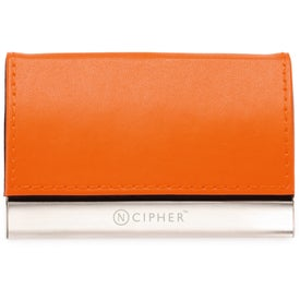 Magnetic Closure Colorplay Leather Card Case with Your Logo
