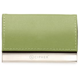 Magnetic Closure Colorplay Leather Card Case for Advertising