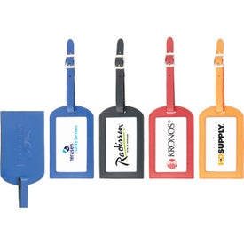 Colorplay Leather Luggage Tag