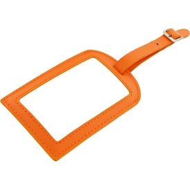 Advertising Colorplay Leather Luggage Tag