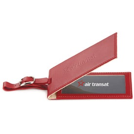 Custom Magnetic Closure Colorplay Leather Luggage Tag