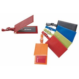Magnetic Closure Colorplay Leather Luggage Tag