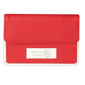 Personalized Colorplay Leather Business Card Case