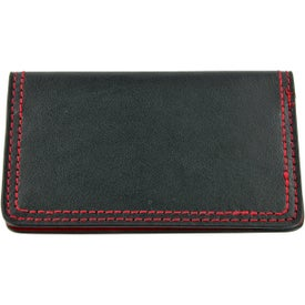 Monogrammed Colorplay Leather Card Case