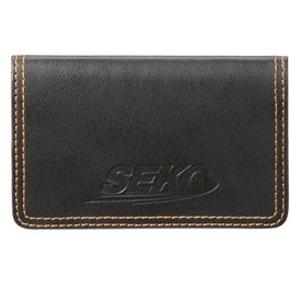 Imprinted Colorplay Leather Card Case