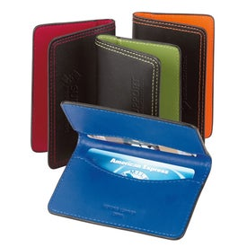 "Colorplay Leather Card Case (4"" x 2 1/2"")"