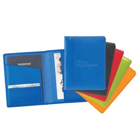 "Colorplay Leather Travel Wallet (4 1/2"" x 6"")"