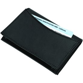 Imprinted Cometa Business Card Case