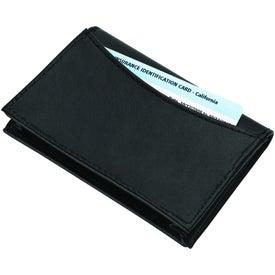 Imprinted Cometa Business Card Case