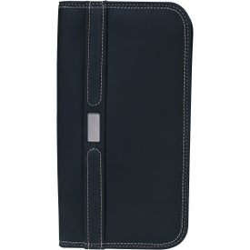 Branded Contemporary Travel Wallet with Zipper