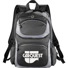Imprinted Continental Checkpoint-Friendly Compu-Backpack