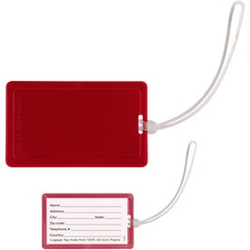 Corn Plastic Luggage Tag Printed with Your Logo