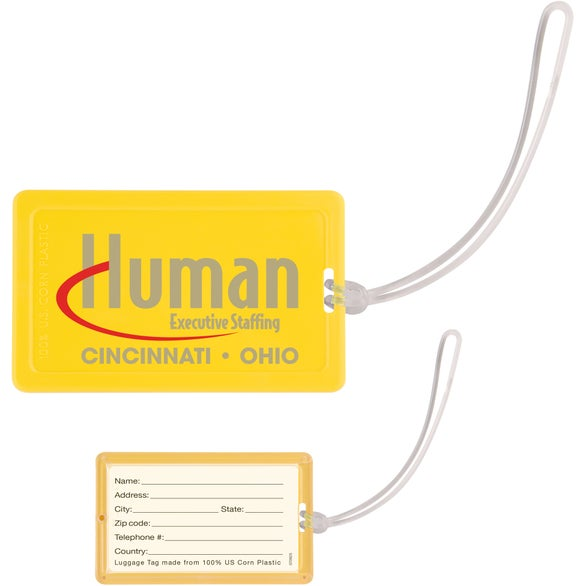 Corn Plastic Luggage Tag