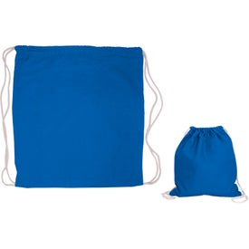 Cotton Drawstring Backpack Branded with Your Logo