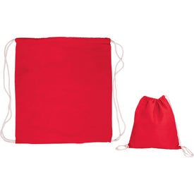 Printed Cotton Drawstring Backpack