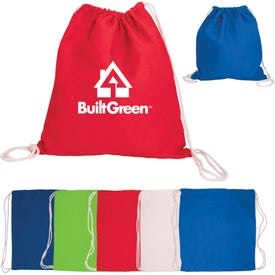 Cotton Drawstring Backpack Imprinted with Your Logo