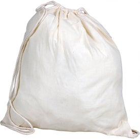Monogrammed Cotton Drawstring Bag