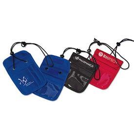 Credential Holder with Zipper Pocket