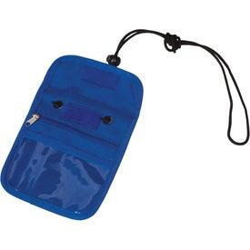 Branded Credential Holder with Zipper Pocket