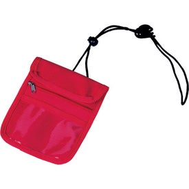 Printed Credential Holder with Zipper Pocket