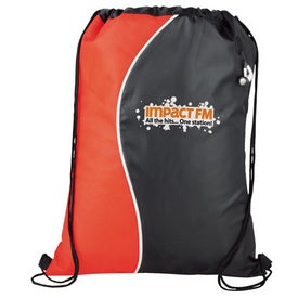 Curve Cinch Bag for Advertising