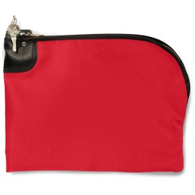 """Curved Night Deposit Bag LN 10.5"""" x 9"""" Branded with Your Logo"""
