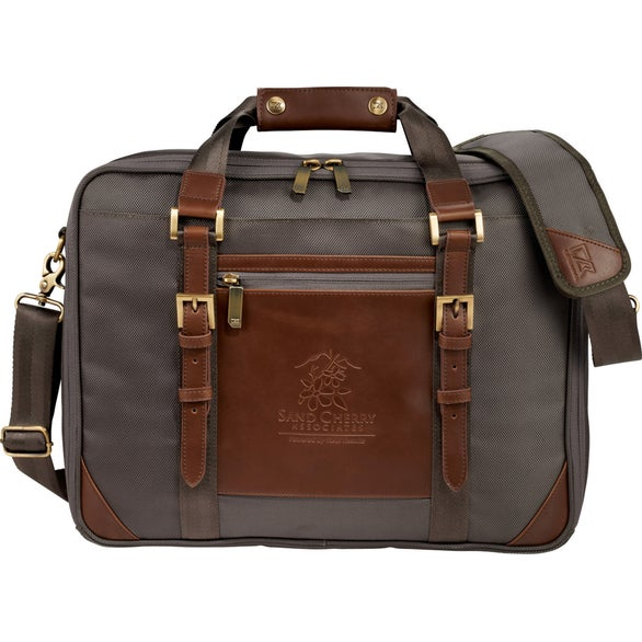 Warm Gray Cutter and Buck Bainbridge Computer Briefcase