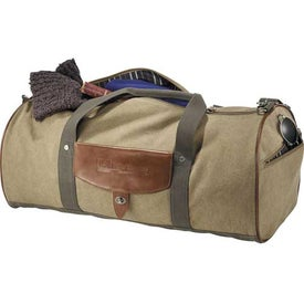 Promotional Cutter and Buck Legacy Cotton Roll Duffel Bag