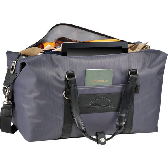 Gray Cutter & Buck Pacific Series Weekender Duffel