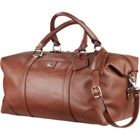 Branded Cutter and Buck Leather Weekender Duffel