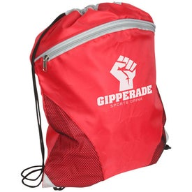 Cyclone Mesh Curve Drawstring Backpack Branded with Your Logo