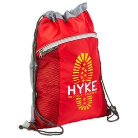 Cyclone Mesh Pocket Drawstring Backpack with Your Logo