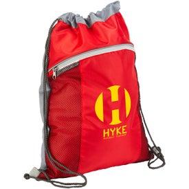 Customized Cyclone Mesh Pocket Drawstring Backpack