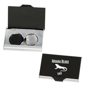 Deluxe Business Card Holder with Matching Key Ring