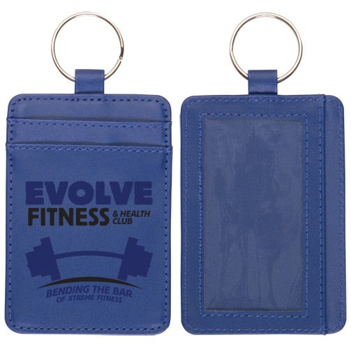 Blue Deluxe ID Holder Wallet