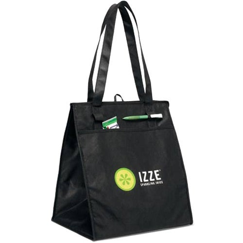 Black Deluxe Insulated Grocery Shopper Bag